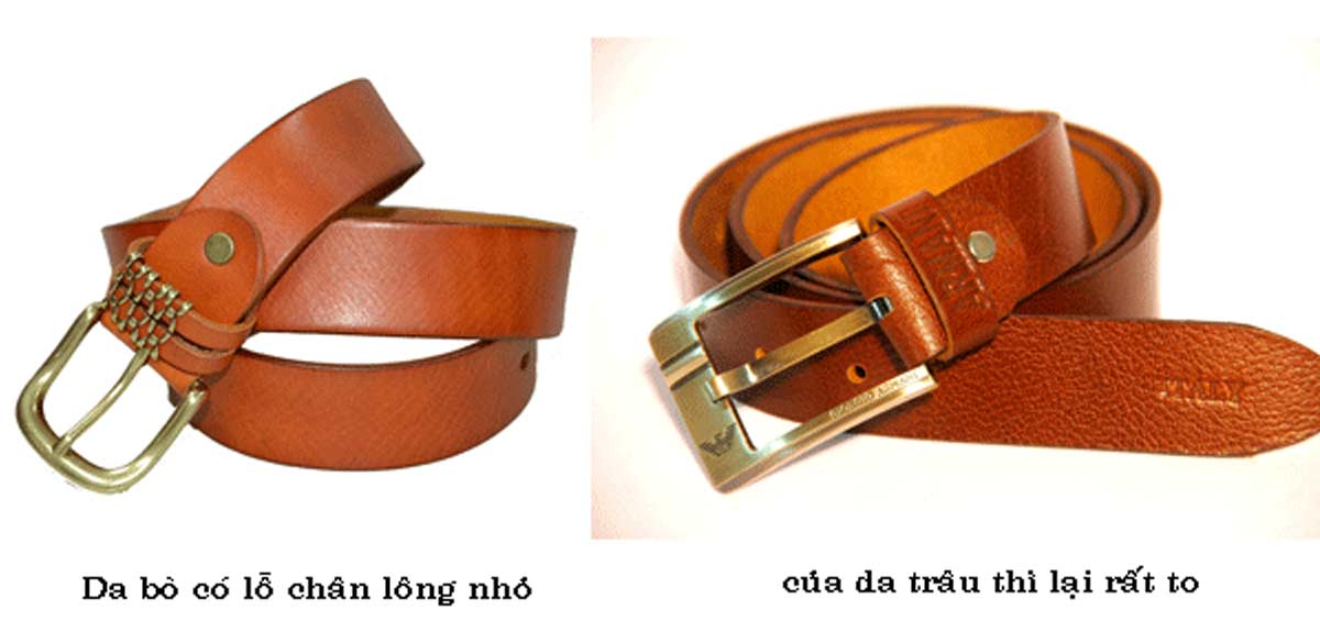 phân biệt thắt lưng da bò, 4 cách phân biệt thắt lưng da làm từ da bò với da trâu