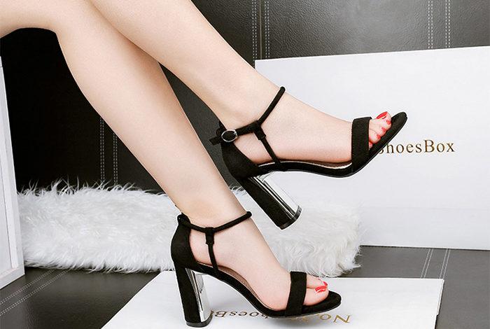 giày cao gót sandal, TOP giày cao gót sandal HOT nhất hiện nay
