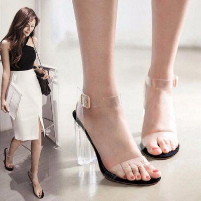 giày cao gót trong suốt