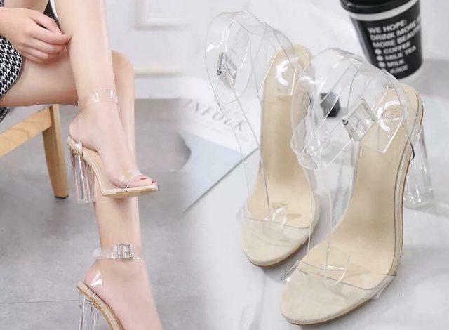 giày cao gót trong suốt, TOP các mẫu giày cao gót trong suốt và cách phối đẹp nhất