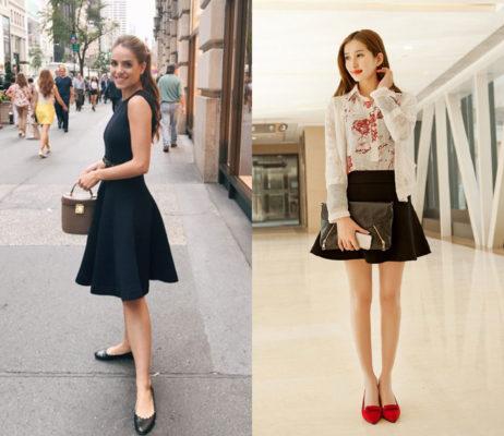 kết hợp giày với váy xòe, Mẹo giúp bạn kết hợp giày với váy xòe THẬT STYLE và NỔI BẬT