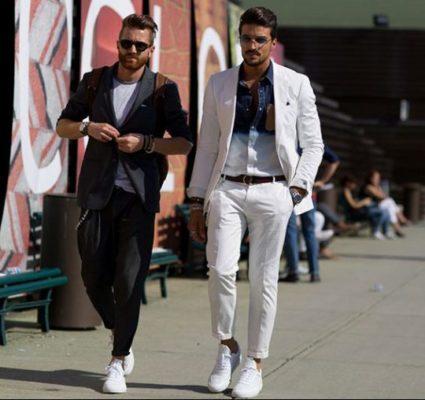 phối đồ với giày trắng