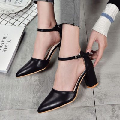 giày gót vuông, Mách bạn cách phối trang phục cùng giày gót vuông XINH XẮN, NỔI BẬT