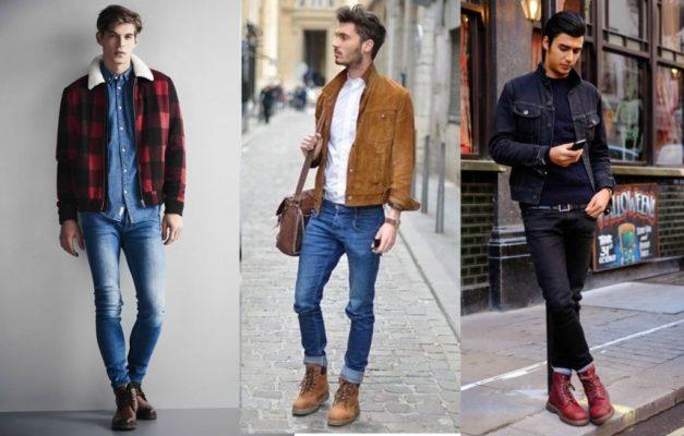phối giày với quần jean nam
