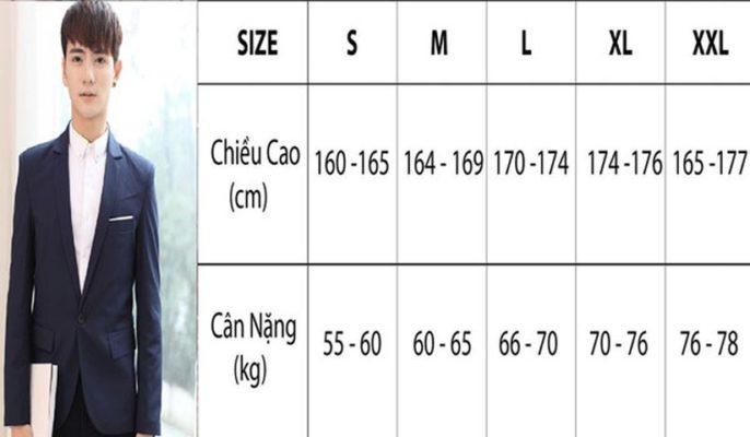 size áo, Cách chọn size áo khoác nam lên form dáng chuẩn