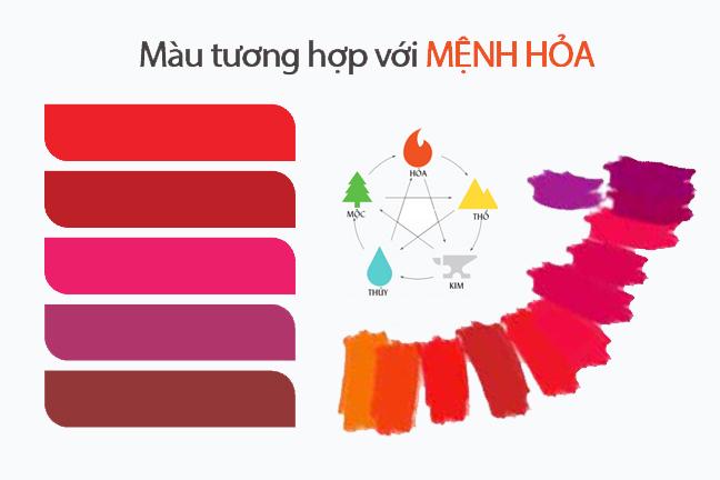 mệnh hỏa hợp màu gì, Mệnh hỏa hợp màu gì, kỵ màu gì? Nên chọn màu gì để thu hút tài lộc?