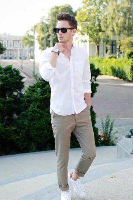 quần kaki, Quần kaki nam – item không bao giờ lỗi mốt 2021