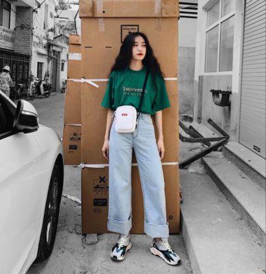 áo phông, 8 Cách phối đồ với áo phông oversize nữ CHUẨN ĐẸP