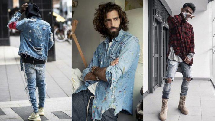 quần jean nam rách bụi, Gợi ý 10 cách phối quần jean nam rách bụi cho các chàng tha hồ thay đổi