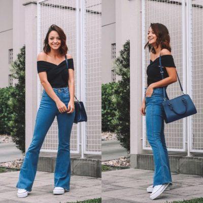 quần jean ống loe phối với áo gì, Quần jean ống loe phối với áo gì? Gợi ý 8 cách Mix đồ với quần ống loe