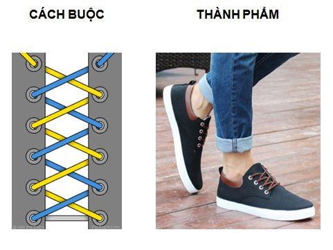 cách thắt nút dây giày
