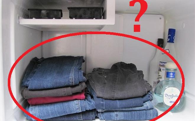 bỏ quần jean vào tủ lạnh, Những lợi ích này sẽ khiến bạn phải bất ngờ khi bỏ quần Jean vào tủ lạnh