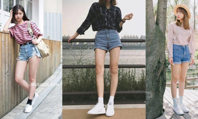 cách phối đồ với quần short jean, Cách phối đồ với quần short Jean tưởng không dễ nhưng dễ không tưởng