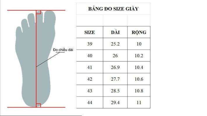 đổi size giày us, Hướng dẫn sử dụng bảng đổi Size giày US cực đơn giản