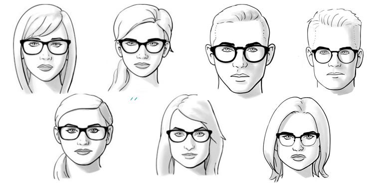 mặt vuông đeo kính gì