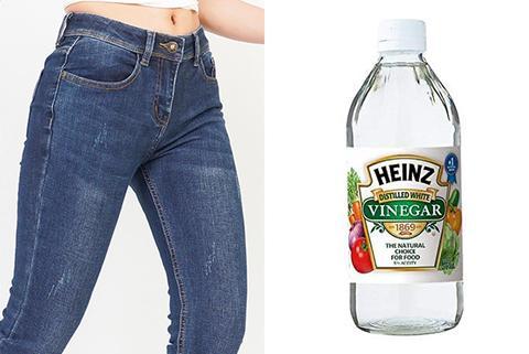 ngâm quần jean với giấm bao lâu