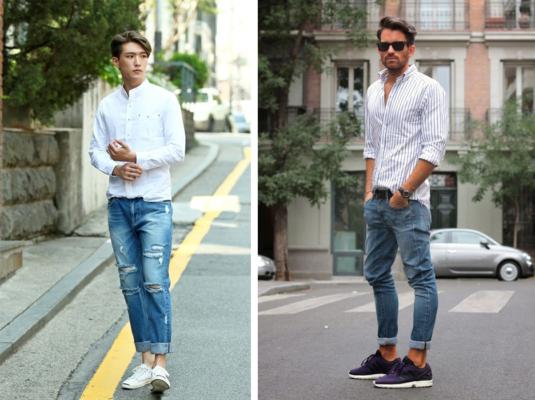 phối đồ với quần jean xanh nam, 6 cách phối đồ với quần Jean xanh nam cho những chàng trai mạnh mẽ
