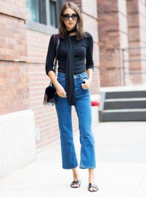 phối giày với quần jean nữ