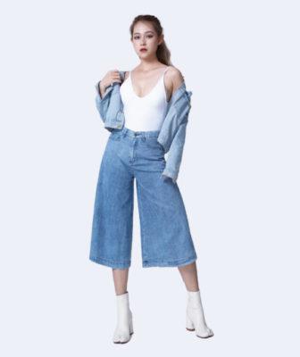 quần jean lửng ống rộng, Bỏ túi ngay những mẹo phối đồ với quần Jean lửng ống rộng cực CHẤT